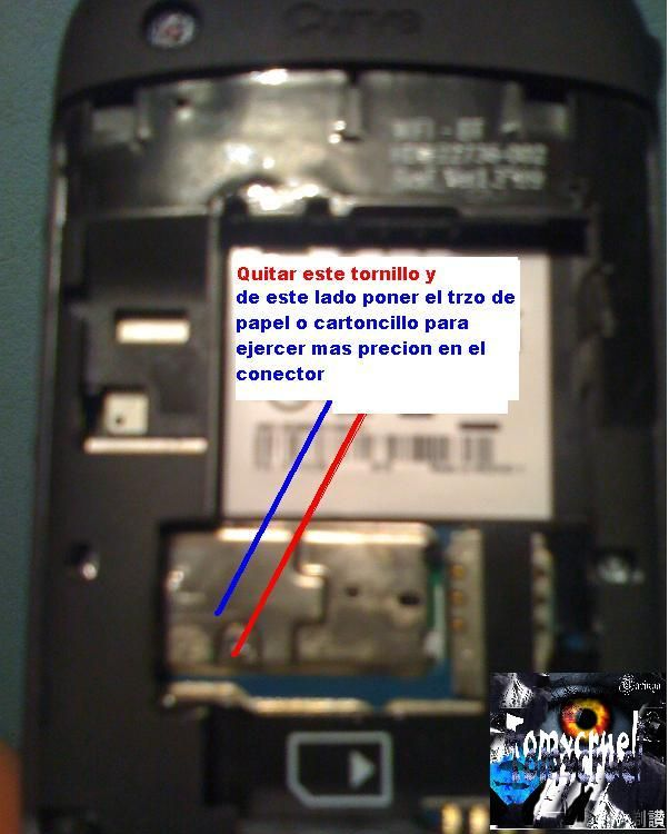 Blackberry arreglar  el trackpad del curve 8520 (fix)...
